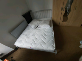 Bed with mattress double size.