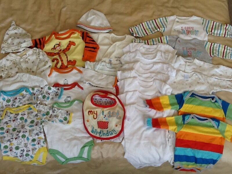 Baby Clothes Bundle 0 3months. New and usedin Plymouth, DevonGumtree - Baby Clothes Bundle 0 3months. New and used. A cute selection of unisex baby clothes. 0 3 months. Many items have never been worn the rest are in good used condition. Please see photos. Tigger Pyjama set as newDisney Dumbo vest and trouser set Lovely...