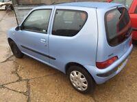 Fiat Siecento 2003 12 months MOT