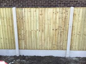 🔨🌟Top Quality Close Board Flat Top Tanalised Wooden Fence Panels