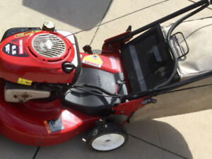 Key start self propelled mower