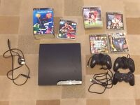 Playstation 3 PS3 with controllers and games