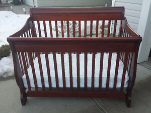 Convertible Crib, highchair, Bumbo floor seat, walker and swing