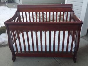 Convertible Crib, highchair, Bumbo floor seat, walker and swing