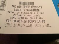4 tickets for Queen Extravaganza plymouth