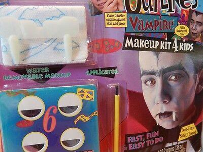 Nos Halloween Vampire Outline Transfer Face Paint Makeup Kids Kit NonToxic Beast