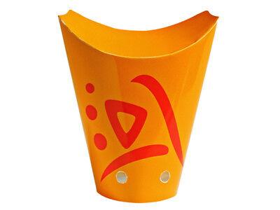 1000 Fingerfood Becher Boxen 500 ml Whizz orange Pommesschütte Snackbox (CPA500)