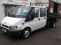 Ford Transit 2.4TDI ( 90PS ) Crewcab Tipper 350 LWB