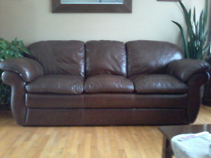 Lazy boy leather couch for sale