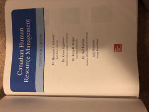 CANADIAN HUMAN RESOURCE MANAGEMENT (11 th edition)