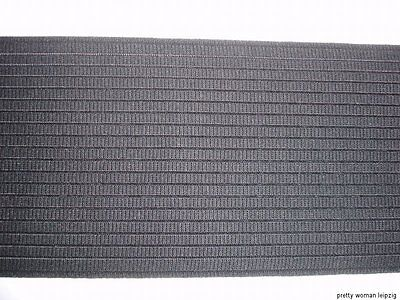Gummiband Bandage Stützgürtel Meterware schwarz 12cm breit MC11