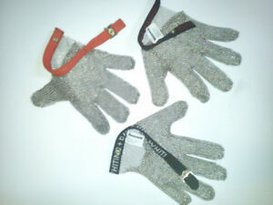 Stainless Steel Mesh Chainmail Gloves NEW