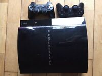 PlayStation 3 Plus 2 Controllers and games