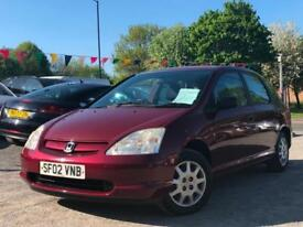 HONDA CIVIC 1.4i S 5 DOOR, WOW 2 P/OWNERS + FULL SERVICE HISTORY + HPI CLEAR !!!