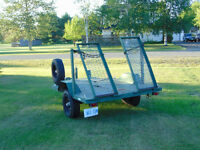Heavy duty bush trailer