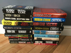19 ROBIN COOK hardcover Medical Thriller collection