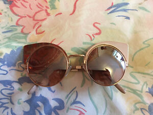Cat-eye Reflective Rose Gold Sunglasses