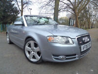 Audi A4 Cabriolet 2.0T FSI Multitronic 2007MY S Line convertible +12 MONTHS
