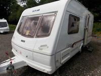 Lunar Clubman 475-2 CKW 2003 2 Berth Lightweight Touring Caravan With MotorMover