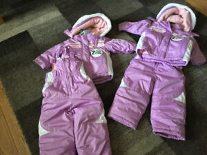 Two toddlers Snow suits