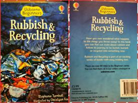 Rubbish And Recycling usborne hardback