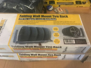 Wall mounted Tire Racks