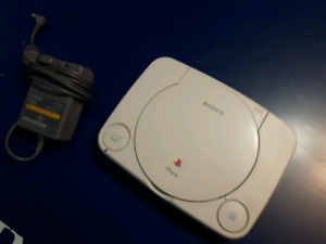 Psone with controllers and ac adaptor