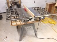 """Craftsman Deluxe 10"""" flex drive table saw"""