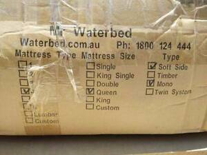 water bed queen size Deception Bay Caboolture Area Preview