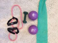 Gym gear/weights/dumbbell/stretch band