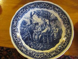 VINTAGE TAVERN BLUE AND WHITE PLATE DELPH asking $85 or be
