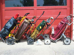 Golf Clubs, Bag & Pull Cart