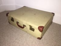 Vintage Antique Large Luggage Briefcase MIE