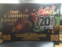 2 Weekend Passes for Bud Country - Face Value $378