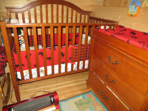 Used Crib and change table