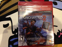 uncharted1(sealed),uncharted2(sealed) and MGS4 for saleFREE GIFT