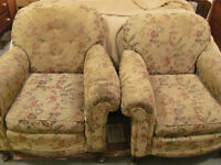 Antique 1930's Sofa and Armchairs