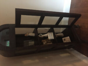 Solid wood display  shelf from  wicker emporium