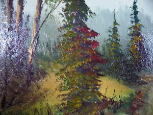 """Oil Painting by Listed Artist Paul Hyttinen """"A Forest Path"""" 1950 Stratford Kitchener Area image 7"""
