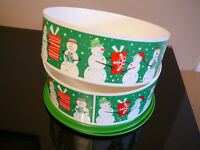 Tupperware Set of 2 Snowman Cookie Canisters *NEW*