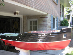 """Incomplete (46"""" RC or display) model tugboat for sale"""