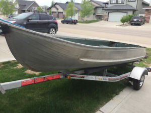 12 Ft. Sears Aluminum Boat and One Year Old Trailer