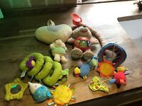 Small collection of baby toys