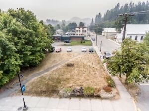Large commercial lot available for development in Kaslo BC!