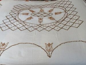 Bedspread King/Queen Natural white fabric.