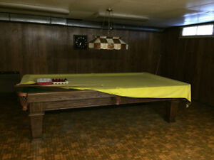 Custom made wood pool table (New Price, MUST GO!)