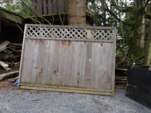 Wanted.  Used fence panels