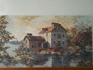 Original Oil Painting by James L. Keirstead – Keirstead Mill Kitchener / Waterloo Kitchener Area image 1