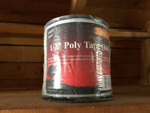 Poly tape fencing 200 m on a role and extra bag