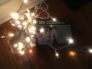 100 White string fairy lights